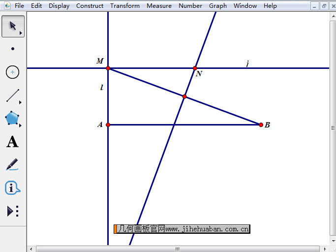 构造线段MB中垂线