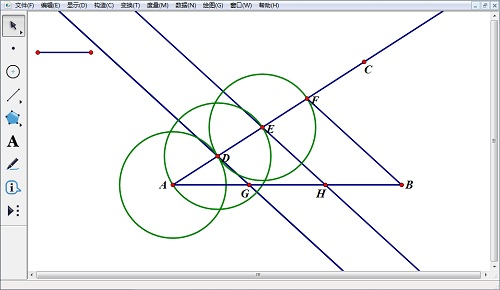 几何画板构平行线
