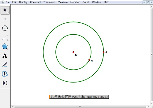 繪制過點A、B的兩個圓