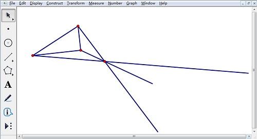 将缩放后的线段旋转180度