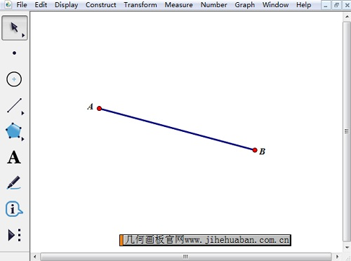 绘制线段AB