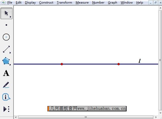 画水平直线l