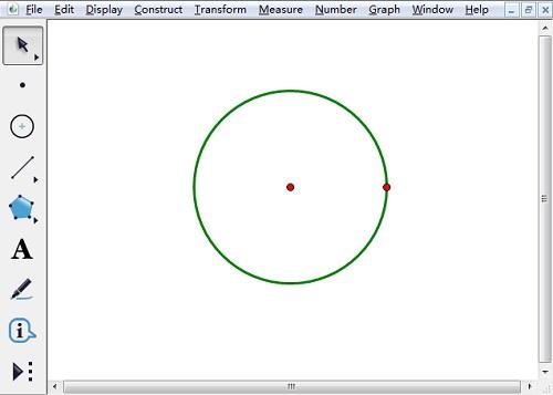 以圓心和圓周上點繪制圓