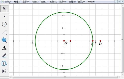 構造過點C的圓O