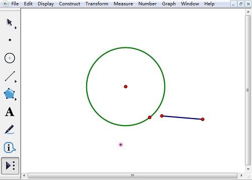 绘制圆的极点