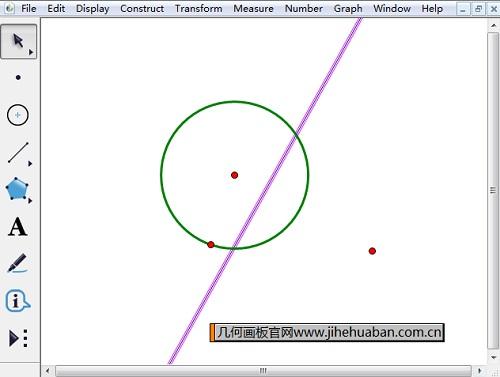 绘制圆的极线
