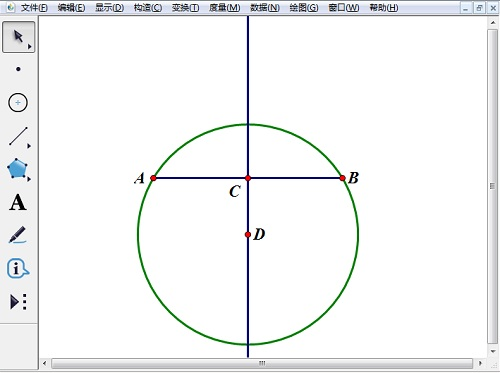 绘制过点A的圆D