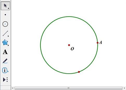 画圆O并取点A