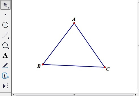 繪制三角形ABC