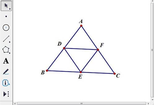 构造三角形三边的中点