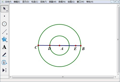 几何画板构造点与圆
