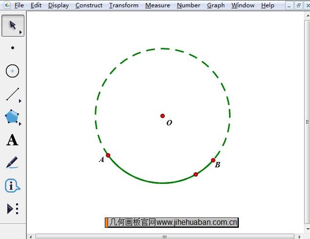构造弧AB