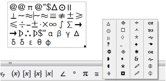 符號面板亂碼
