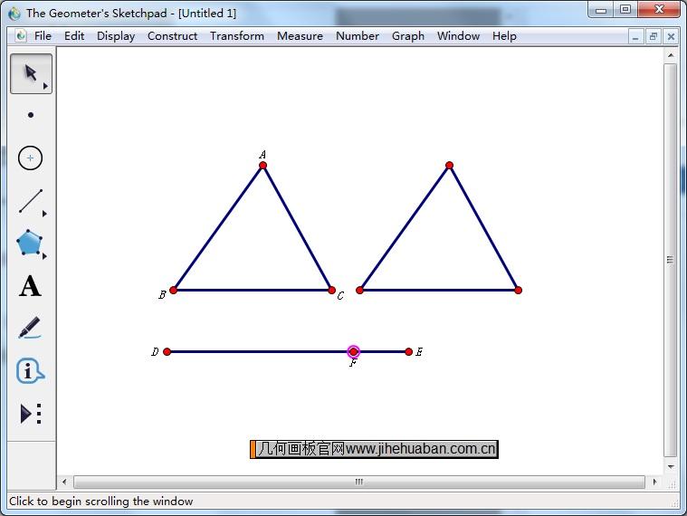 控制三角形移动