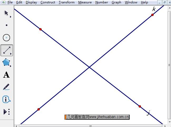 构造相交直线