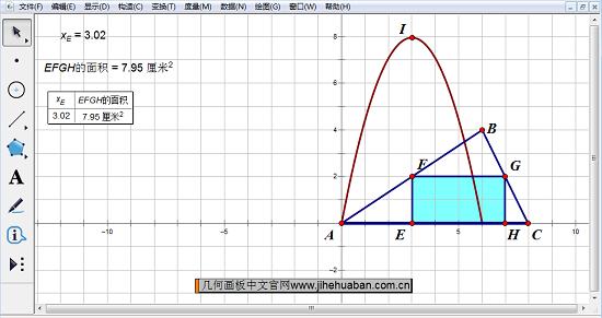 三角形内接长方形面积最值问题