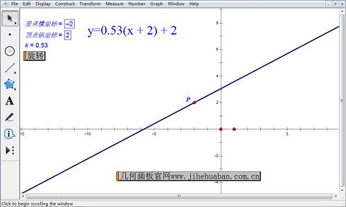 幾何畫板定點旋轉