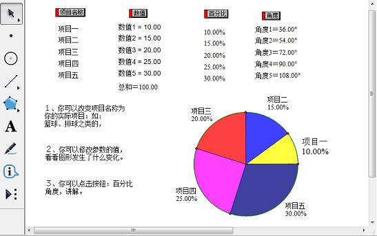 动态扇形统计图课件