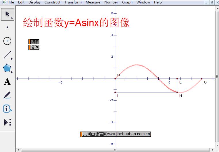 函数y=Asinx的图像
