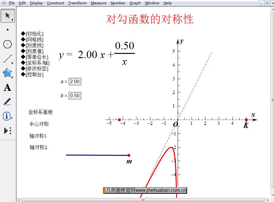 对勾函数中心对称