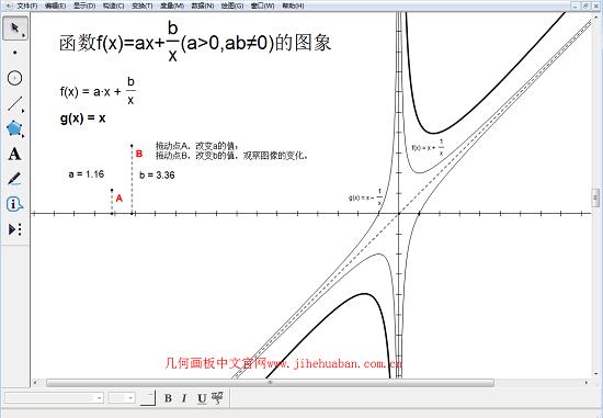 几何画板对勾函数
