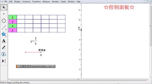 几何画板反比例函数