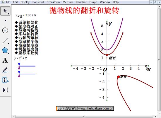 拋物線的翻折和旋轉課件