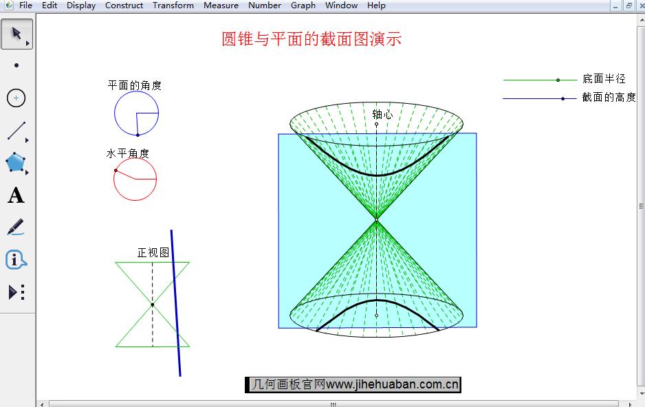 圓錐與平面的截面