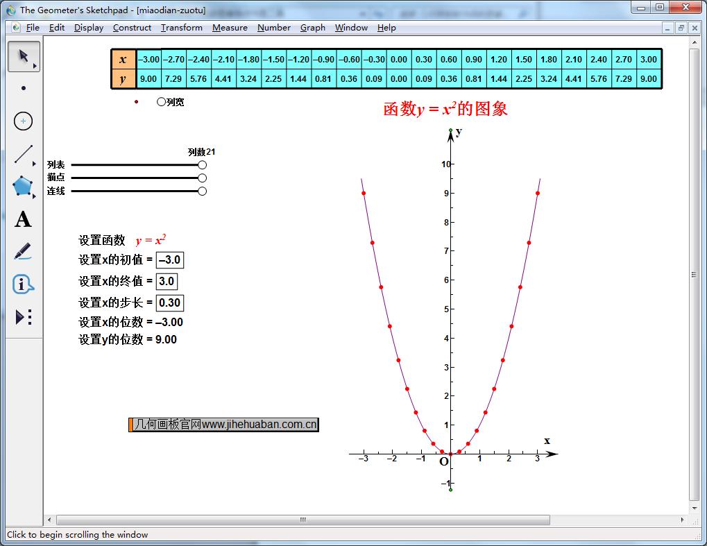 描点画函数图像