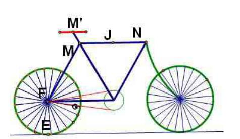 构造自行车坐凳