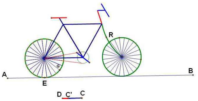 构造自行车龙头