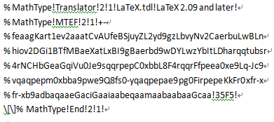 LaTeX码