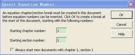MathhType插入公式编号