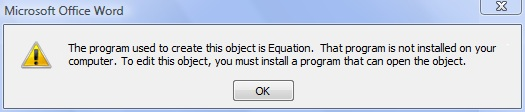 MathType公式参数错误