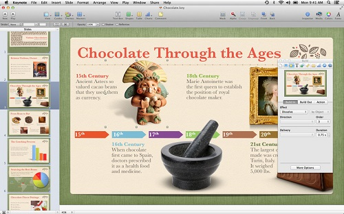 Keynote软件界面