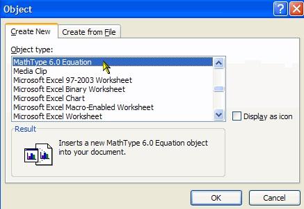 Object对话框