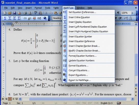MathhType与Word兼容