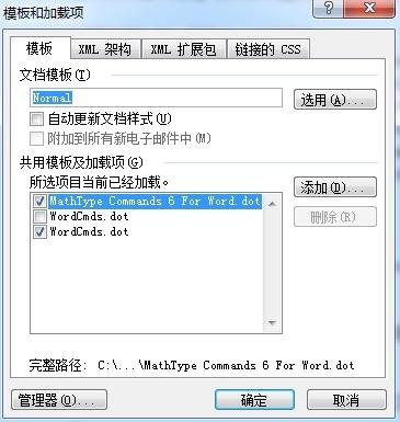 Word模板加载项