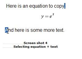 选中公式粘贴到MathhType