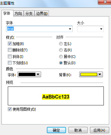 MindMapper字体