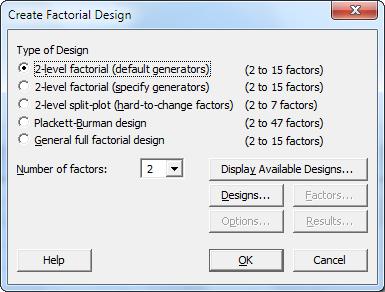 图一:选择统计> DOE > 因子> 创建因子设计