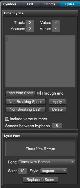 Overture 教程之如何输入歌词