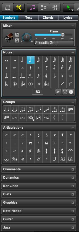 Overture中工具面板的详细介绍(一)