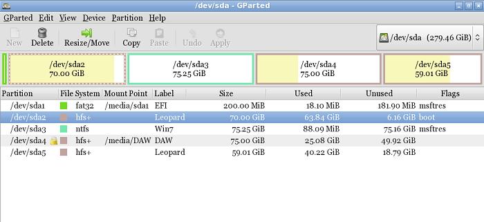 HFS+磁盘容量
