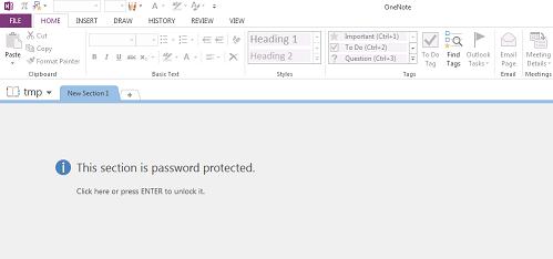 Office OneNote文件提示窗口