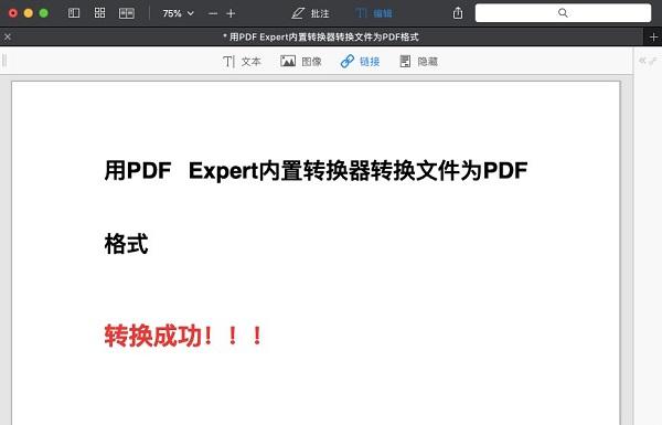 转换成为PDF格式