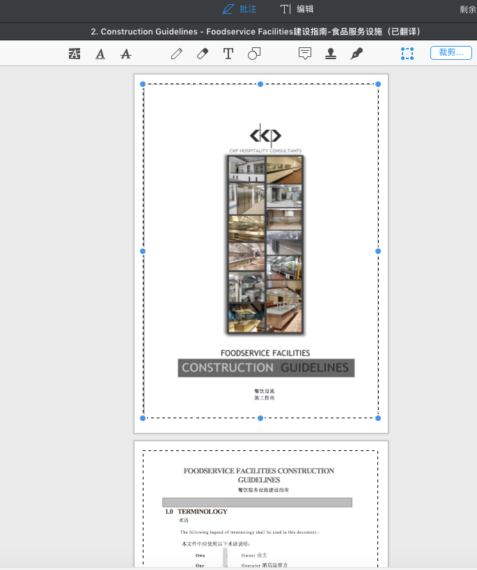 图4 :pdf expert裁剪模式
