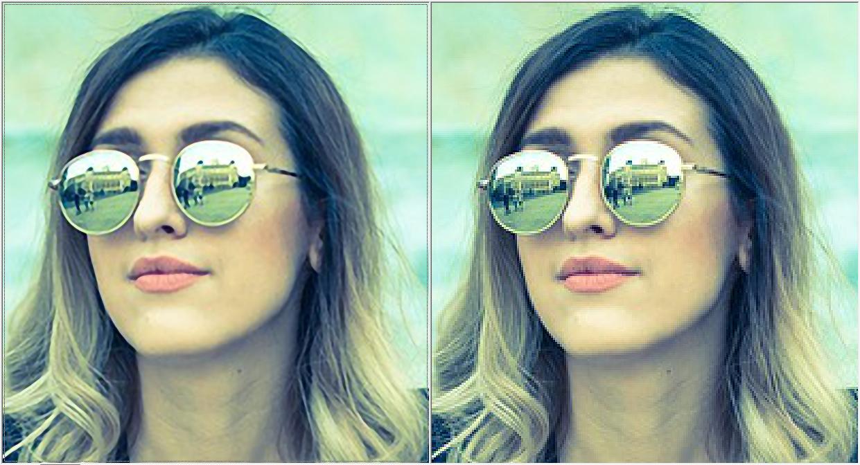 PhotoZoom如何处理图片杂色和不自然感?