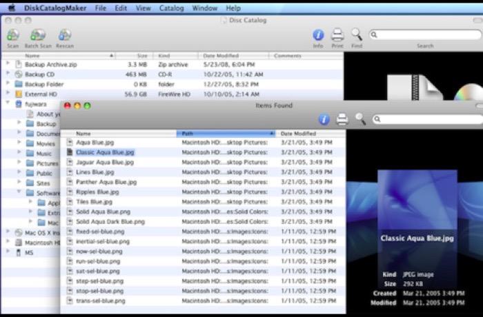 DiskCatalogMaker for Mac软件操作界面