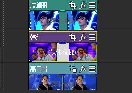 多張圖片堆疊至視頻上方